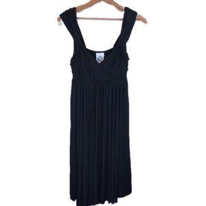 Anthropologie C. Keer Black Jersey Knit Dress